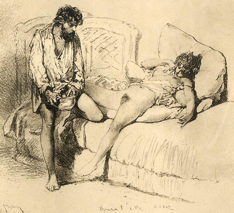 рисунок оральный секс